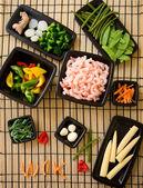 Wok ingredients — Stock Photo