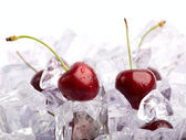 Ice Cherries — Stock Photo