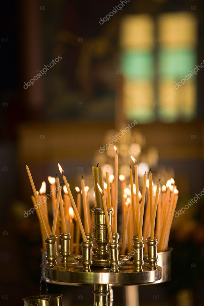 Close up of candles in orthodox church   Stock Photo #4696778