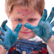 Boy painting — Stockfoto #4729577