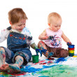 Kids painting — Stockfoto