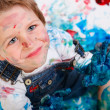 Boy painting — Stockfoto #4729584