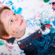 Stock Photo: Boy painting