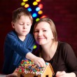 Stok fotoğraf: Gingerbread house decoration