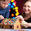 Stock Photo: Gingerbread house decoration