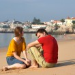 Young couple on the beach — Stock Photo #4729635