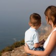 Mother and son enjoying beautiful views — Stock Photo #4729648