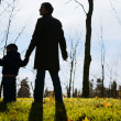 Autumn family silhouette — Stock Photo #4729791