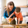 Family Baking — Stockfoto