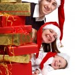 Xmas Family - Stock Photo