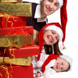 Xmas Family — Stock Photo