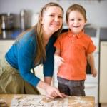 Family Baking — Stock Photo