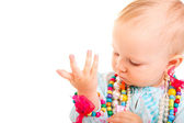 Trendy baby girl — Stock Photo