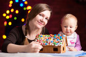 Gingerbread house decoration — Stock Photo