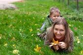 Herbst familienspass — Stockfoto