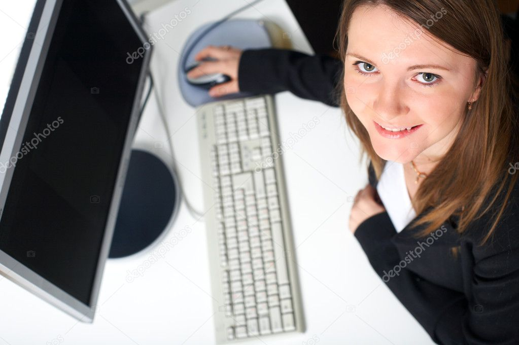 Successful young business woman in office environment — Stock Photo #4729901