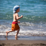 Child on vacation — Stock Photo