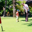 Family golf — Stock Photo