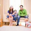 Royalty-Free Stock Photo: Watching 3D Movie