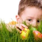 Easter egg hunt — Stock Photo