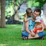 Family fun outdoor — Stock Photo