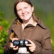 Female photographer — Stock Photo #4730319