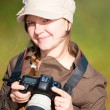 Royalty-Free Stock Photo: Female photographer
