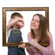 Mother and son portrait — Stock Photo #4730330