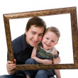 Stock Photo: Father and son portrait