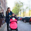 In City With Kids - Stockfoto