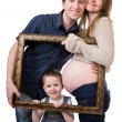 Stock Photo: Expecting family