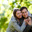Couple outdoors - Foto Stock