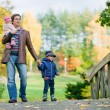 Autumn family — Foto Stock
