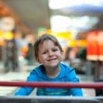 Boy at airport — Stock Photo