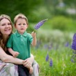 Mother and son summer portrait — Stock Photo #4730535
