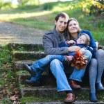 familia otoño — Foto de Stock