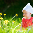 Summer baby girl - Stock Photo