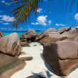 Beautiful rocky coast in Seychelles - Foto Stock