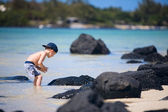 Boy on vacation — Stock Photo