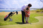 How to play golf. — Stock Photo