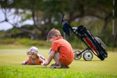 Golf with Kids — Stock Photo