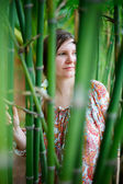 Bamboo girl — Stock Photo