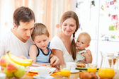 Family breakfast — Stock Photo