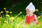 Summer baby girl — Stock Photo