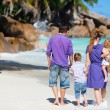 Family with two kids on vacation — Stock Photo #4748031