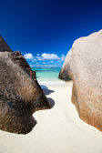 Anse Source d Argent beach — Stock Photo