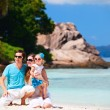 Stockfoto: Young family on vacation