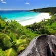 Grand Anse on La Digue island in Seychelles — Stock Photo