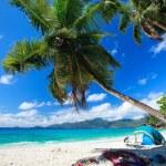 perfektní pláž na Seychelách — Stock fotografie