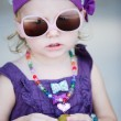 Adorable toddler girl — Stock Photo